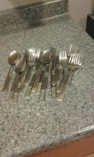 Silverware lot #1, do not match, 2 sets trying to make 1. Great for dorms or cabin.