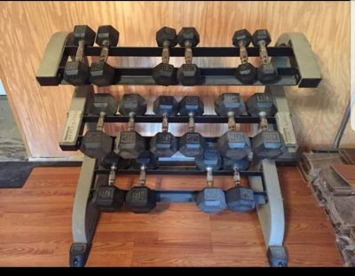 Dumbbells and rack (Iron Grip)