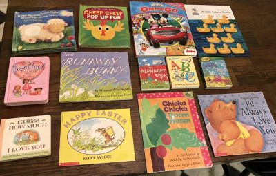 Lot of children s books, all in great condition except Bible has some scribble on a few pages