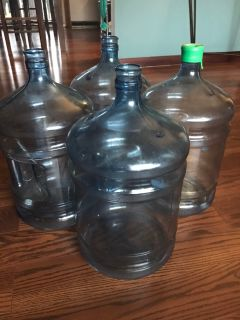 5 gallon water jugs- 4 available $2 each