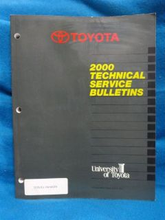 Sell 2000 Toyota ALL MODELS * FACTORY Technical Service Bulletins * OEM ORIGINAL * motorcycle in Baltimore, Maryland, United States