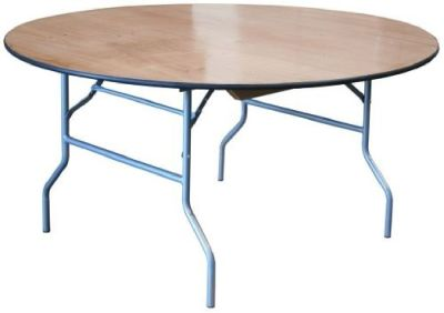 "48"" ROUND PLYWOOD FOLDING TABLE"