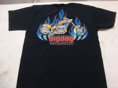 Find BIG DOG MOTORCYCLES FLAME CHOPPER SHIRT 3XL W/ FRONT & BACK DESIGN SHORT SLEEVE motorcycle in Lyons, Kansas, United States, for US $19.99