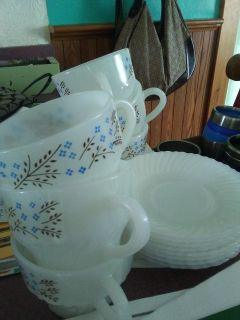 Vintage Termocrisa Cups and plates