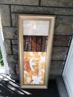 """Tall picture with frame-16""""x41""""-good condition-10$"""
