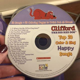 Clifford Happy songs cd