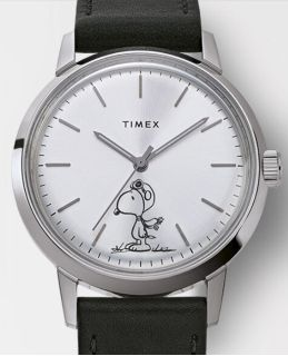 Timex Marlin x Peanuts, Snoopy 40mm Wristwatch, Leather Bracelet, Sold Out, Limited Edition