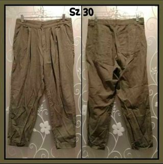 WOMENS OLIVE GREEN PANTS SIZE 30