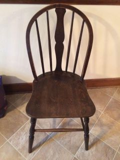 Solid wood chair antique kitchen country