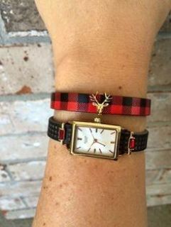 In search of the plaid Keep it collective bracelet and deer charm