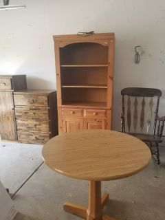 FREE TABLE, HUTCH, DESK & ROCKING CHAIR