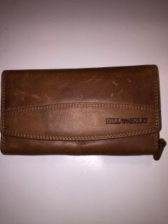Hill Burry Full Leather Grain Wallet Brown