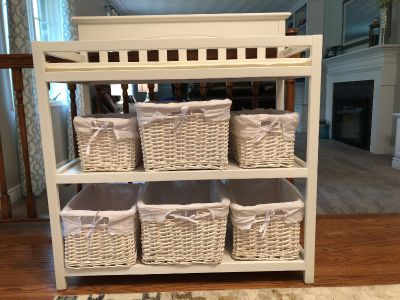 Changing Table and Baskets