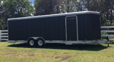 28 ft. V-Nose Featherlite Enclosed Trailer