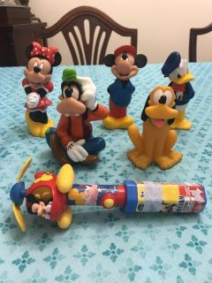 Plastic Disney Mickey Mouse and Friends $7