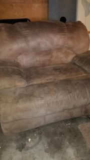 Double recliner and large reclining sofa