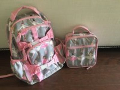Pottery Barn Kids Ballerina Backpack & Lunchbox