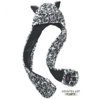 Sell Arctic Cat Women's Faux Fur Hat w/ Attached Mitts Black & White Leopard 5233-04_ motorcycle in Sauk Centre, Minnesota, United States, for US $12.99