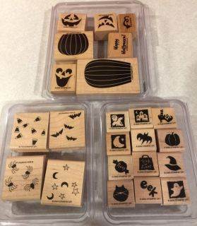Stampin UP 3 Halloween Stamp Sets