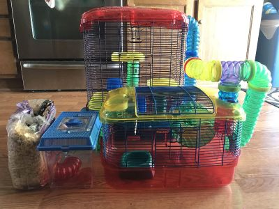 Two Critter Trail Hamster cages