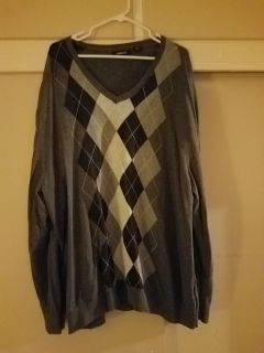 3XL, CLAIBORNE, CHARCOAL GREY SWEATER