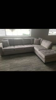Modern Taupe Reversible Sectional!