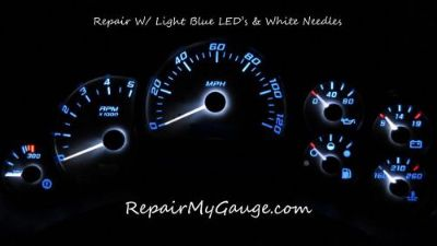 Find Chevy Silverado Speedometer Instrument Cluster Repair w/light blue Leds, white motorcycle in Glendale, Arizona, United States, for US $195.00