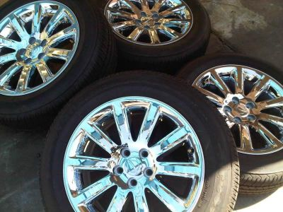 "Find CHRYSLER 300 18"" CHROME WHEELS RIMS TIRES - FACTORY OEM WHEELS - 2418 motorcycle in Fountain Valley, California, US, for US $1,095.00"