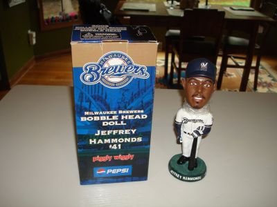 Rare 2003 JEFFREY HAMMONDS #41 Milwaukee Brewers Bobble Bobblehead SGA