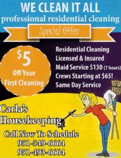 Carla's Housekeeping