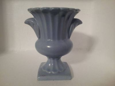 Urn, Blue Pottery - Possibly Haeger