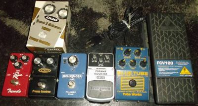 6 guitar effects pedals