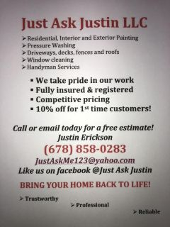 Holiday specials painting and pressure washing