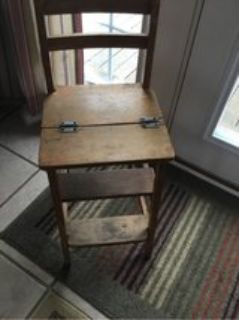 Antique Step-stool and Chair