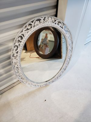 large destressed mirror