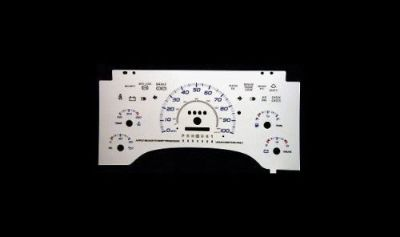 Purchase 100mph Euro Reverse Glow Gauge Face Indiglo New For 1995-1997 Chevy S10 w/o Tach motorcycle in Monterey Park, California, United States, for US $24.99