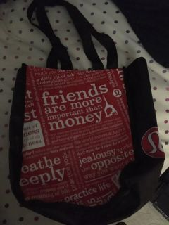 Reusable lulu lemon bag