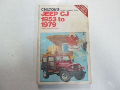 Sell 1953 1979 Chiltons Jeep CJ CJ3B CJ5 CJ6 CJ7 Repair & Tune Up Guide Manual WORN motorcycle in Sterling Heights, Michigan, United States, for US $19.99