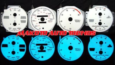 Buy 140MPH 6 Color Glow Gauges Indiglo Faces For 82-89 Pontiac Firebird Trans AM V8 motorcycle in Monterey Park, California, United States, for US $24.99