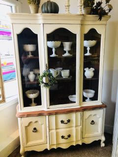 Restyled French Provincial China Cabinet