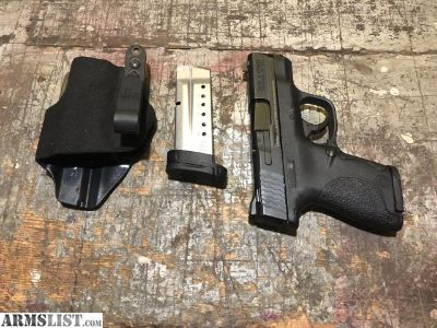For Trade: M&P shield 9mm with 2 mags and Haley strategic incong holster
