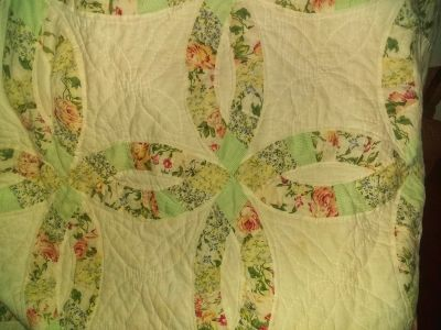 Antique hand-sewn quilt