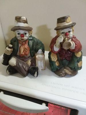 Clown musical figurines