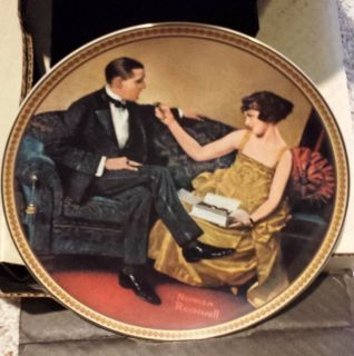 Norman Rockwell Flirting In The Parlor Collector Plate