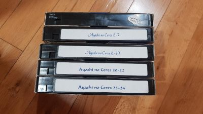 Anime Ayashi no Ceres Fansubbed VHS tapes complete series