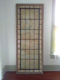Large antique church stained glass window
