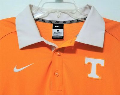 NIKE TENNESSEE VOLUNTEERS POLO SHIRT SIZE L ~ NICE