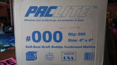 """500~4"""" x 8"""", Self-seal Bubble Mailers"""