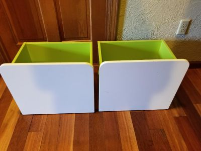 Rolling Wooden Storage Drawers