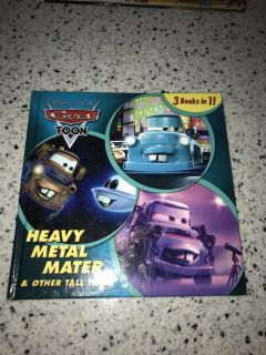 Cars 3 in 1 hardcover story book- excellent condition -like new